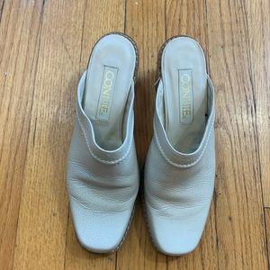 Vintage Shoes - Vintage Connie Square Toed Mule